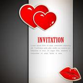 The Valentine day. Invitation card — Stock Photo
