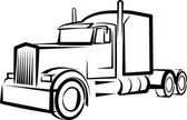 Simple illustration with a truck — Stock Photo