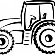 Stock Photo: Simple illustration with tractor