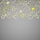 Abstract background with hearts and stars — Stock Photo
