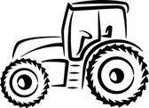 Simple illustration with a tractor — Stock Photo