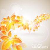 Shiny autumn background — Stock Photo