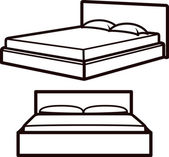 Simple illustration with beds — Stockfoto