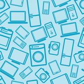 Fondo transparente con dispositivos electrónicos — Foto de Stock