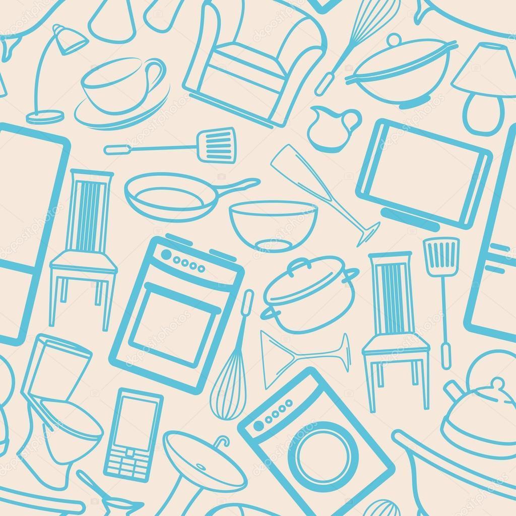 Fondo transparente con art culos para el hogar foto de for Articulos modernos para el hogar