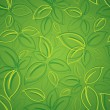 Seamless background with green leaves — Stock Vector #33568309