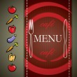 Stock Vector: Menu design