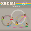 Social network — Stock Vector #33568887
