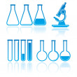 Stock Vector: Set of laboratory equipment