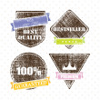 Set of retro vintage grunge labels — Stock Vector