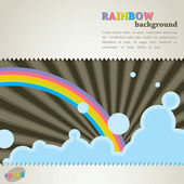 Abstract retro background with rainbow — Stock Vector