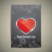 心とバレンタインの日カード — ストックベクタ