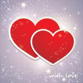 κάρτα του αγίου βαλεντίνου με την καρδιά — Διανυσματικό Αρχείο