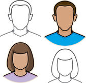 Vector male and female avatar icons — Stock Vector