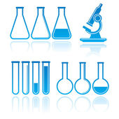 Set of laboratory equipment — Stock Vector