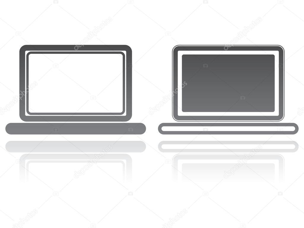 Вектор на ноутбук