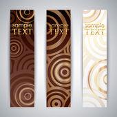 Set of elegant banners — Stock Vector