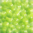 Green transparent balloons — Stock Vector #34098467