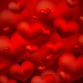 Fond avec des coeurs rouges — Vecteur