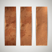 Banners with cardboard texture — Stock Vector