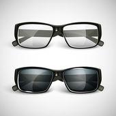 Güneş gözlüğü ve gözlük — Stok Vektör