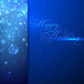 Happy birthday. holiday background with sparkles — Stock Vector