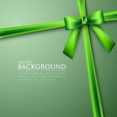 Elegant background with green bow — Stok Vektör