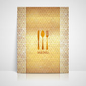Restaurant menu design with spoon, fork and knife — Stock Vector