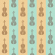 Seamless vintage background with violins — Stock Vector
