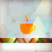 Menu design with coffee sign — Stock vektor
