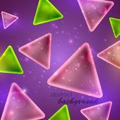 Abstrait fond brillant avec formes triangulaires — Vecteur