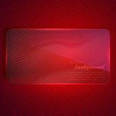 Abstrato com bandeira de vidro transparente — Vetor de Stock