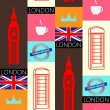 London seamless pattern — Stockvektor