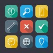 Flat icons for web and mobile applications — Imagens vectoriais em stock