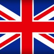 British union jack flag — Vector de stock