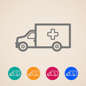 Vector ambulance car icons — Stock Vector