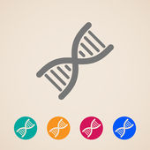 Vector DNA icons — Stock Vector