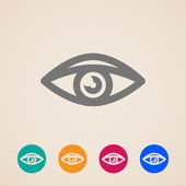 Vector eye icons — Stock Vector