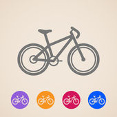 Vector bike icons — Stock Vector