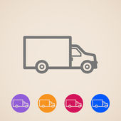 Vector delivery truck icons — Stock Vector