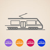 Vector train icons — Stock Vector