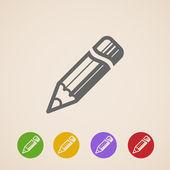 Vector pencil icons — 图库矢量图片