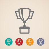 Vector champions cup icons — Stock Vector