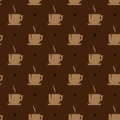 Seamless background with coffee cups — Stock Vector