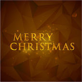 Merry christmas. holiday background with golden text — Stock Vector