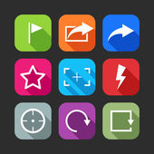 Lat icons for web and mobile applications — Stock Vector