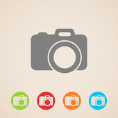 Vector camera icon — Stock Vector