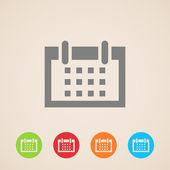 Vector calendar icons — Stock Vector