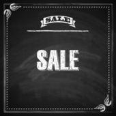 Chalkboard texture. sale concept. — Vector de stock