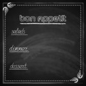 Chalkboard menu design — Stock Vector